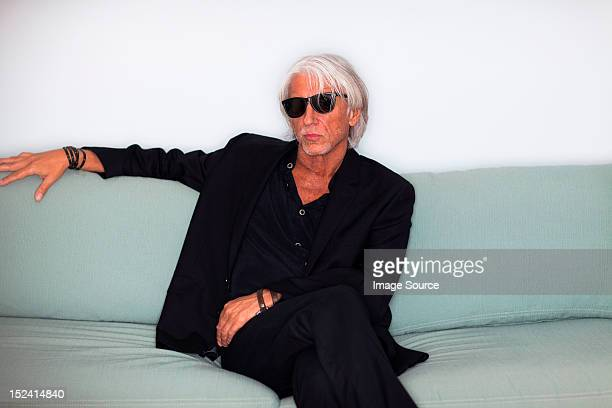 Portrait of cool mature man in sunglasses