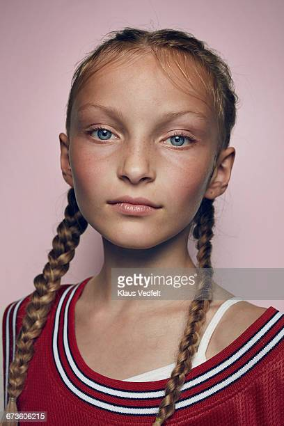 portrait of cool young female basketball player - extra long stock pictures, royalty-free photos & images
