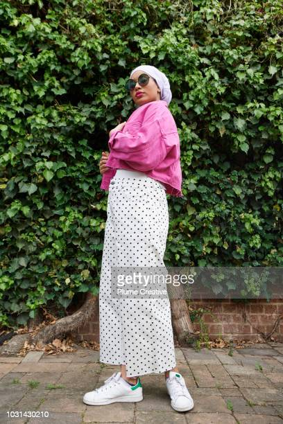 Portrait of cool young muslim woman