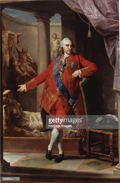 Portrait of Count Kirill Razumovsky the last Hetman of Ukraine 1766 Private Collection Artist Batoni Pompeo Girolamo
