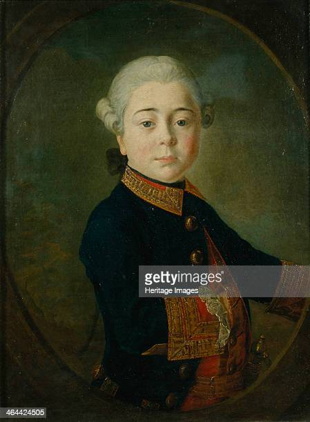 Portrait of Count Nikolai Dmitrievich Matyushkin as Child 1763 Found in the collection of the State Tretyakov Gallery Moscow