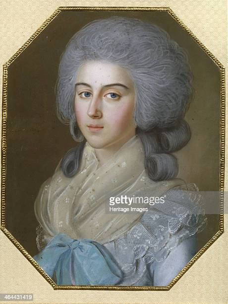Portrait of Countess Anna Alexandrovna Golitsyna Baroness Stroganova 1786 Found in the collection of the State Tretyakov Gallery Moscow