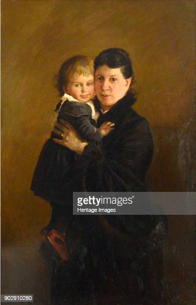Portrait of Countess Sophia Andreevna Tolstaya with Daughter Alexandra Found in the Collection of State Museum of Leo Tolstoy Moscow