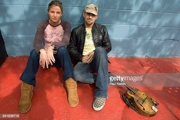 Portrait of country group Sugarland Jennifer Nettles and Kristian Bush as they pose outside Joe's Bar Chicago Illinois May 4 2006