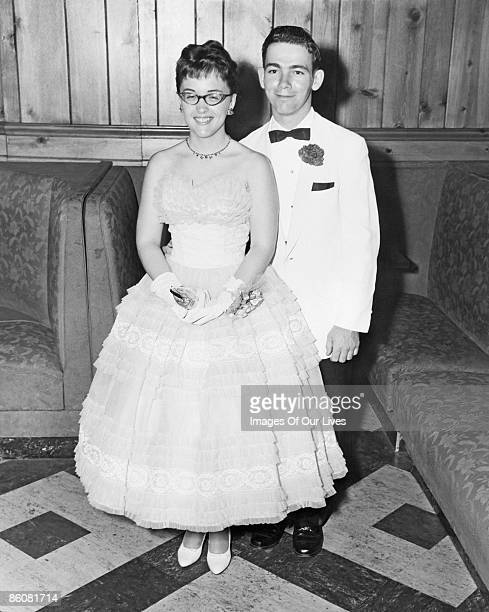 Portrait of couple at prom