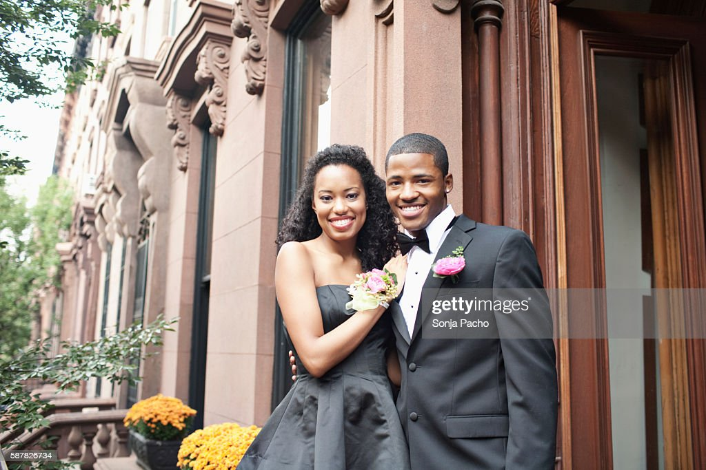 Portrait of couple going to prom : Stock Photo
