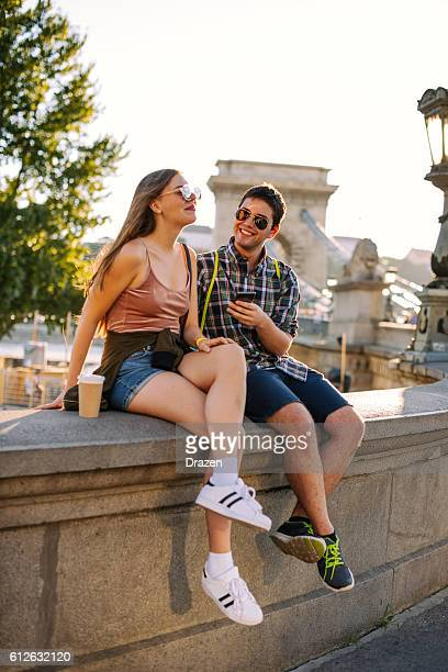 Portrait of couple having fun together