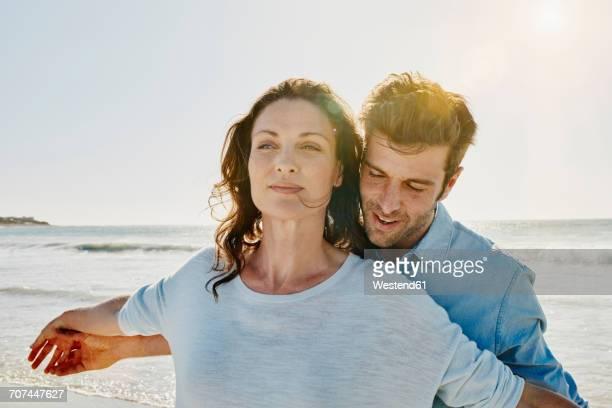 Portrait of couple on the beach