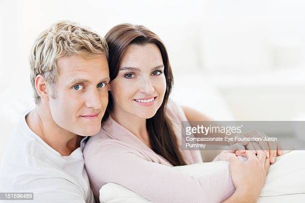 "portrait of couple smiling, close up - ""compassionate eye"" fotografías e imágenes de stock"
