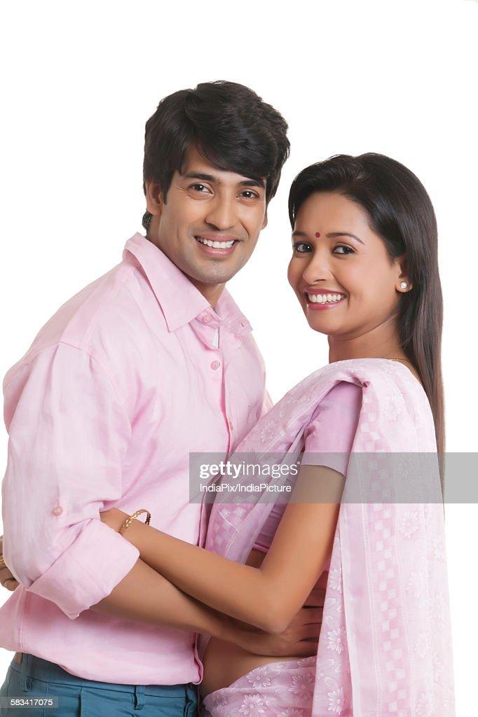 Portrait of couple smiling : Stock Photo