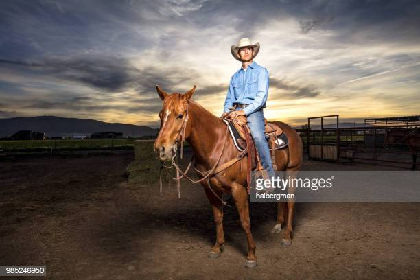 Portrait of Cowboy in Stable Yard