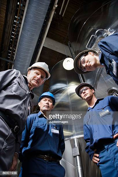 Portrait of co-workers in a brewery