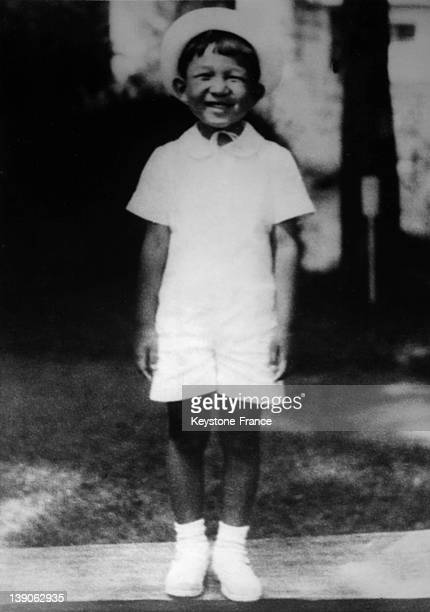 Portrait of Crown Prince Akihito son of emperor Hirohito of Japan on October 9 1939 in Tokyo Japan