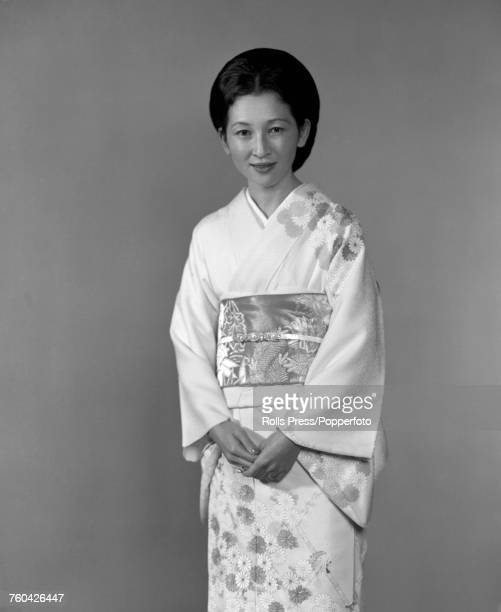 Portrait of Crown Princess Michiko wife of Crown Prince Akihito pictured wearing a kimono in Japan in October 1971