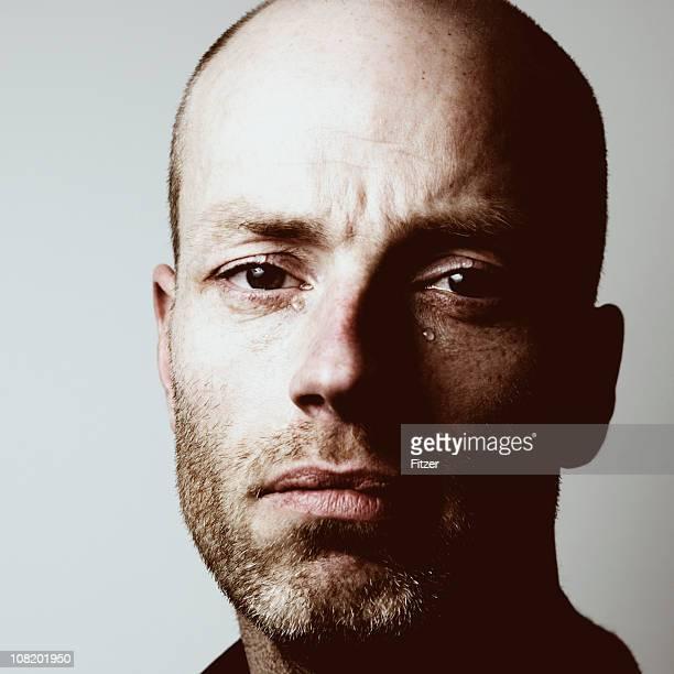 Porträt von Weinen Mann, getönt