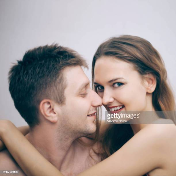 Portrait of cuddling Caucasian couple