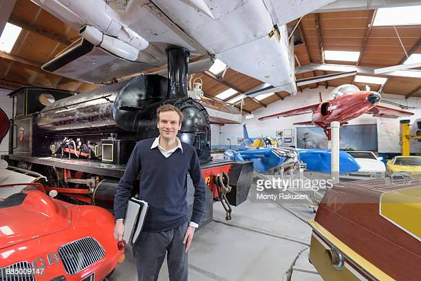 Portrait of curator of transport museum