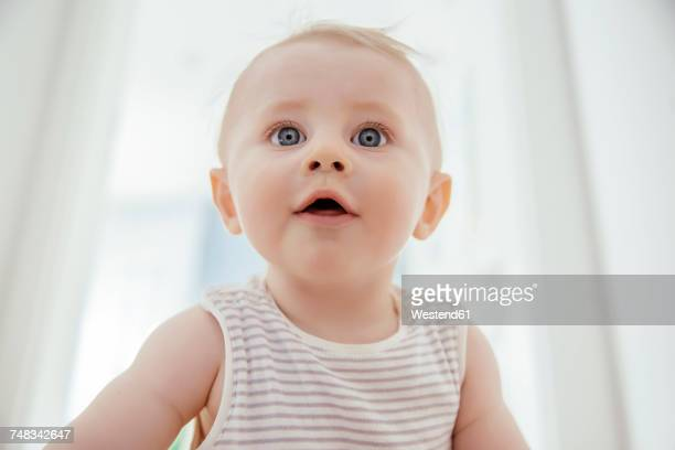 Portrait of curious baby boy