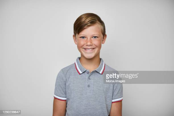 portrait of cute boy smiling on white background. - 11 stock pictures, royalty-free photos & images
