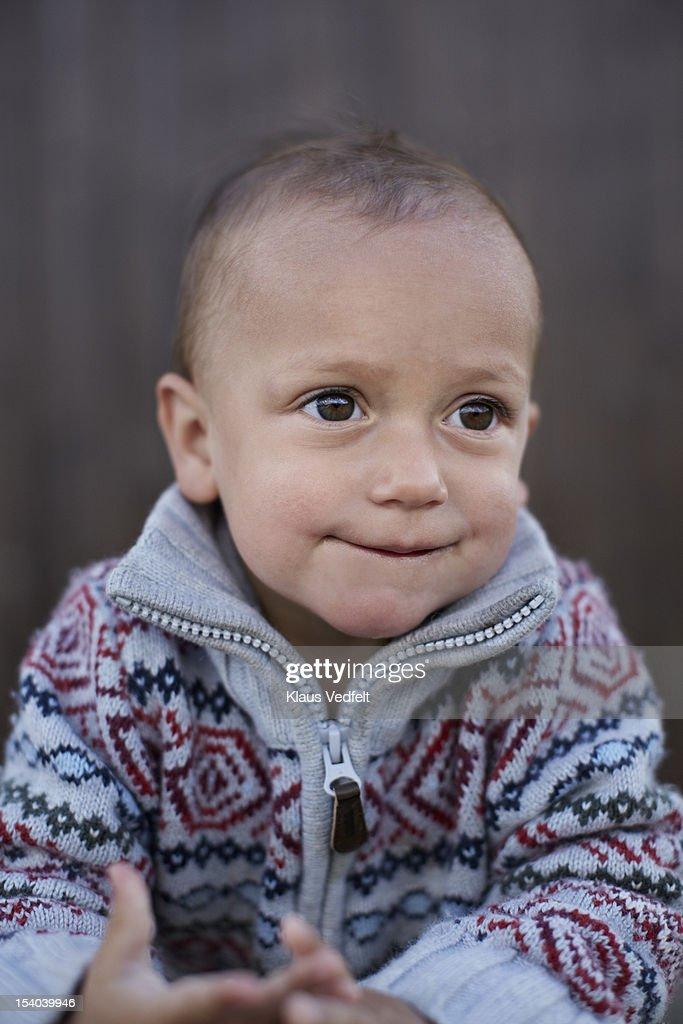 Portrait of cute boy smiling : Stock Photo
