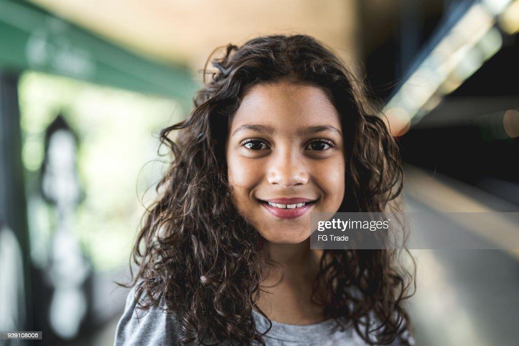 Porträt von süßen Mädchen : Stock-Foto