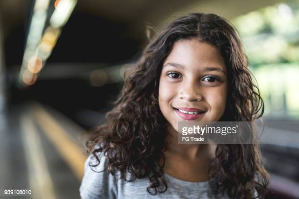 portrait of cute girl - brazilian girls stock photos and pictures
