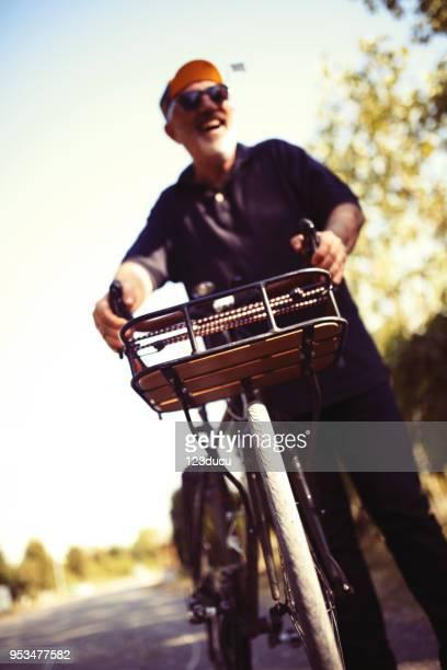 Portrait Of Cyclist Senior Man