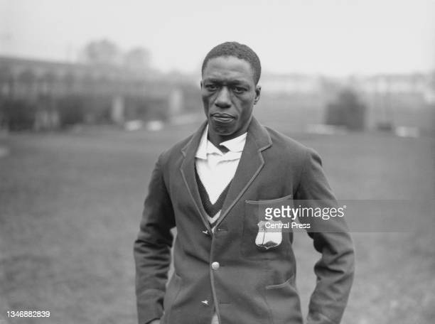 """Portrait of Cyril """"Snuffy"""" Browne from Guyana, right-arm medium pace bowler and and right-handed batsman for the touring West Indies Cricket Team..."""