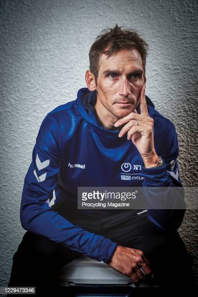 Portrait of Czech professional cyclist Roman Kreuziger, photographed in south-east France before competing in the Classic Sud-Ardeche road race, on...