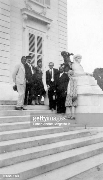 Portrait of Dahomian 'Prince' Kojo Tovalou Houenou and his wife, American opera singer Roberta Dodd Crawford , American newspaper publisher Robert...