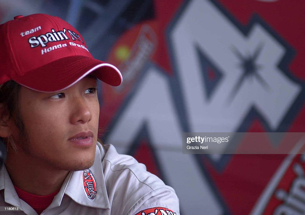 A portrait of Daijiro Kato of Japan during the official qualifying for the German Motorbike GP at the Sachsenring, Germany on July 19, 2002.