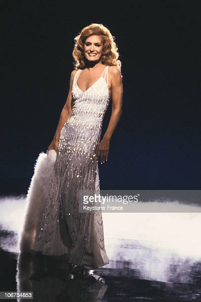 Portrait Of Dalida On Stage In The Seventies
