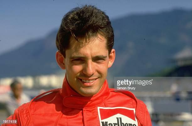 Portrait of Dallara Cosworth driver Alex Caffi of Italy before the Brazilian Grand Prix at the Rio circuit in Brazil Caffi did not qualify Mandatory...