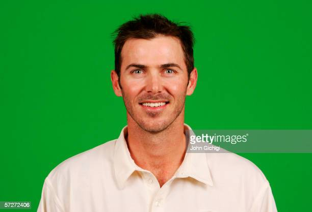 Portrait of Damien Martyn of Australia taken during a photocall at the Royal Gardens Hotel on July 18 2005 in London England
