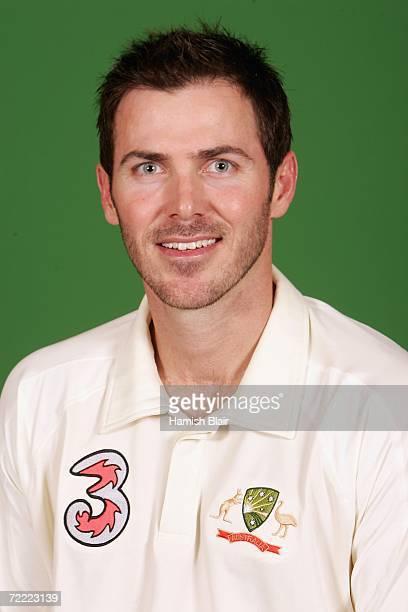 A portrait of Damien Martyn of Australia taken during the Australian cricket team training camp on August30 2006 at the Hyatt Regency at Coolum Beach...