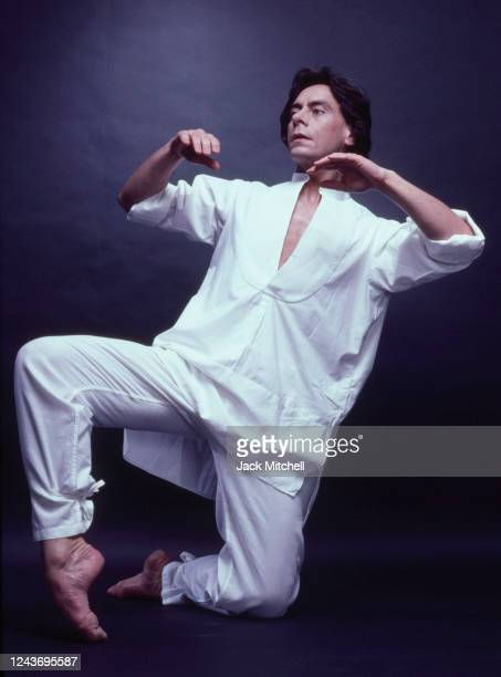 Portrait of dancer John Neumeier for a production of 'St John's Passion,' New York, New York, 1983.