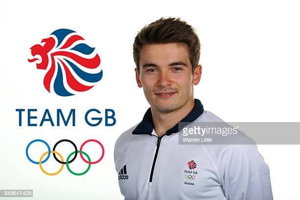 A portrait of Daniel Goodfellow a member of the Great Britain Olympic team during the Team GB Kitting Out ahead of Rio 2016 Olympic Games on June 28...