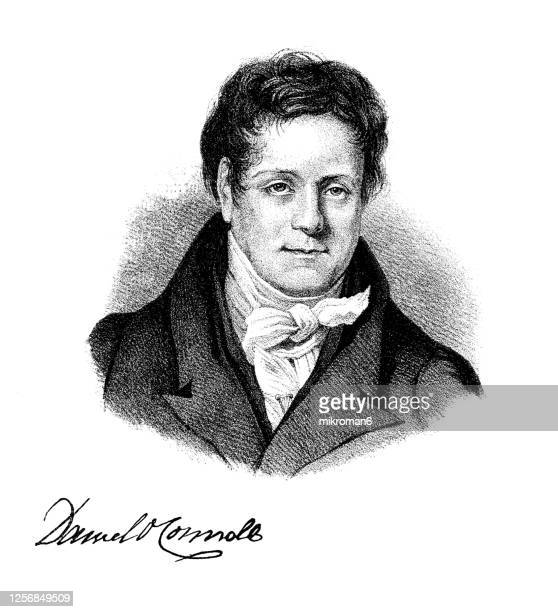 portrait of daniel o'connell, irish political leader in the first half of the 19th century. - mayor stock pictures, royalty-free photos & images