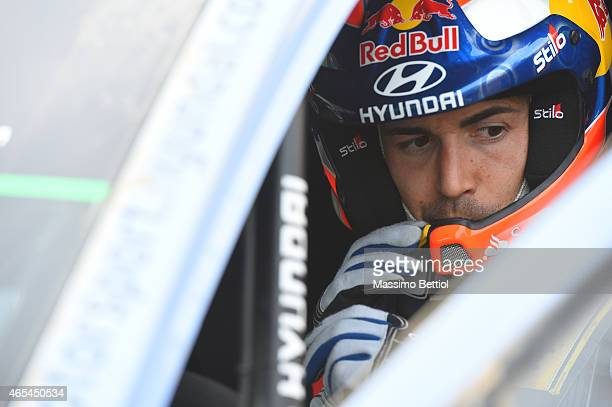 Portrait of Daniel Sordo of Spain taken during Day One of the WRC Mexico on March 6 2015 in Leon Mexico