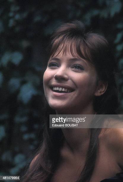 Portrait of DanishFrench actress Anna Karina