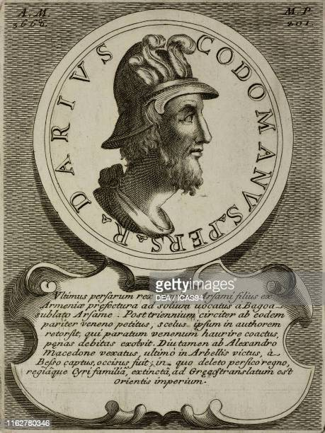Portrait of Darius III , King of Persia, engraving from Epitome historico-chronologica gestorum omnium patriarcharum, ducum, judicum, regum, et...
