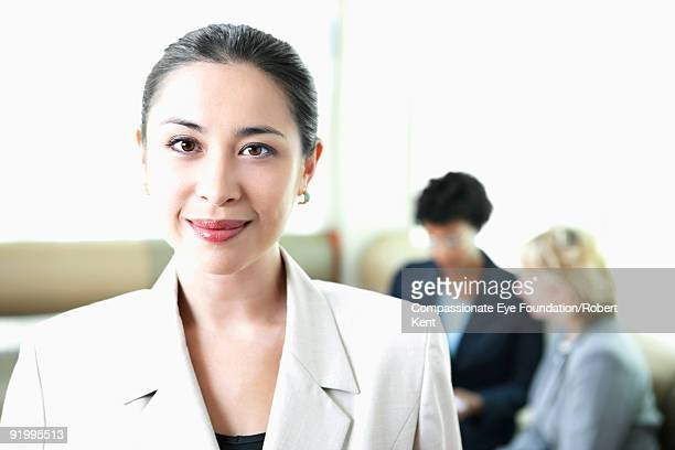 portrait of dark haired business woman