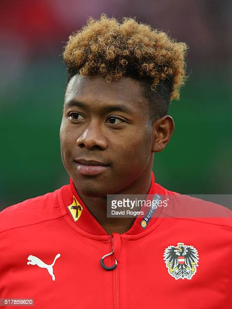 A portrait of David Alaba of Austria during the international friendly match between Austria and Albania at the Ernst Happel Stadium on March 26 2016...