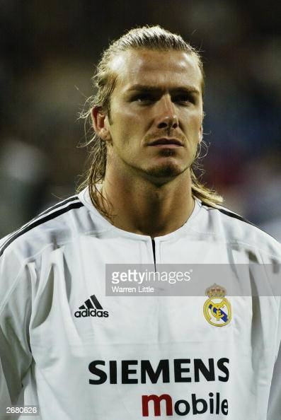 David Beckham of Real Madrid Pictures
