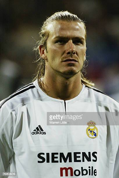 Portrait of David Beckham of Real Madrid taken before the UEFA Champions League Group F match between Real Madrid and Partizan Belgrade held on...