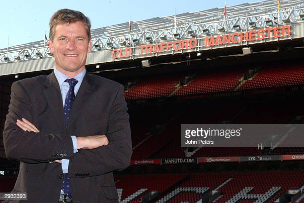 A portrait of David Gill the Manchester United Chief Executive at Old Trafford on October 2 2003 in Manchester England