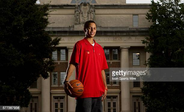 Portrait of Davidson basketball player Stephen Curry on the campus of Davidson University on Thursday, Sept. 9, 2008.