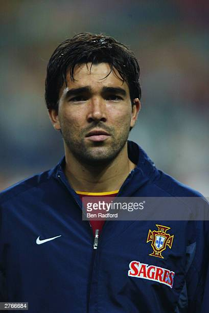 Portrait of Deco of Portugal taken before the International Friendly match between Portugal and Kuwait held on November 19 2003 at the Municipal Dr...