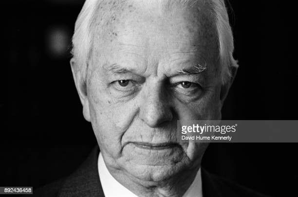 Portrait of Democratic Senator Robert Byrd of North Carolina in his Capitol Hill office during the Impeachment Trial of President Bill Clinton on Jan...