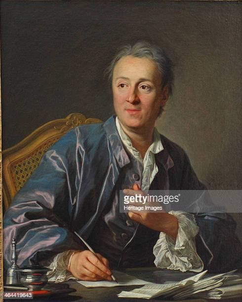 Portrait of Denis Diderot 1767 Found in the collection of the Louvre Paris